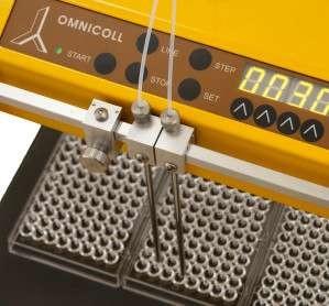 Utilisation du collecteur de fractions et échantillonneur OMNICOLL avec des microplaques